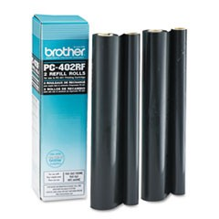 PC-402RF Thermal Transfer Refill Roll, 150 Page-Yield, Black, 2/PK