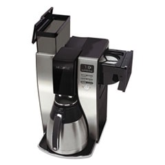 Optimal Brew 10-Cup Thermal Programmable Coffeemaker, Black/Brushed Silver