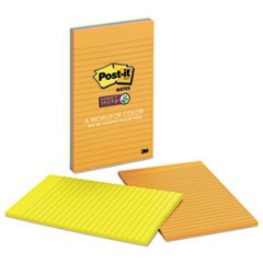 Pads in Rio de Janeiro Colors, Lined, 5 x 8, 45-Sheet, 4/Pack