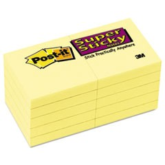 Canary Yellow Note Pads, 1 7/8 x 1 7/8, 90-Sheet, 10/Pack