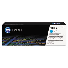 HP 201X, (CF401X) High Yield Cyan Original LaserJet Toner Cartridge