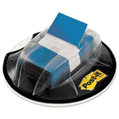 Post-It  Flagspage Flags In Desk Grip Dispenser, 1 X 1 3/4, Blue, 200/Dispenser