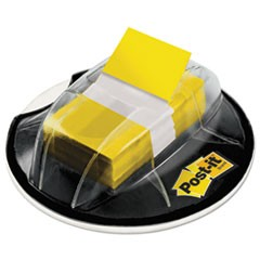 Page Flags in Desk Grip Dispenser, 1 x 1 3/4, Yellow, 200/Dispenser
