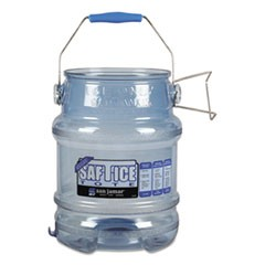 Saf-T-Ice Tote, 5gal, Transparent Blue