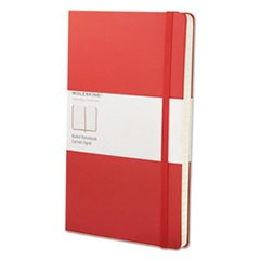 Classic Colored Hardcover Notebook, Narrow Rule, Red Cover, 8.25 x 5, 240 Sheets