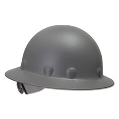 SuperEight Thermoplastic Hard Hat, 3-R Ratchet Suspension, Gray