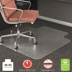 RollaMat Frequent Use Chair Mat for Medium Pile Carpet, 45 x 53 w/Lip, Clear