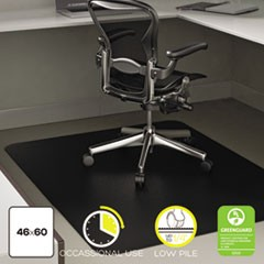 EconoMat Occasional Use Chair Mat for Low Pile, 46 x 60, Black