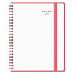 Color Play Weekly/Monthly Planner, 8 1/2 x 11, White/Red, 2016