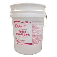 Bucket, 5 gal, White/Pink
