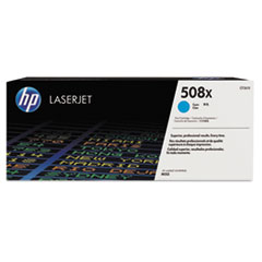 HP 508X, (CF361X) High Yield Cyan Original LaserJet Toner Cartridge
