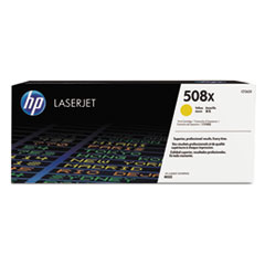 HP 508X, (CF362X) High Yield Yellow Original LaserJet Toner Cartridge