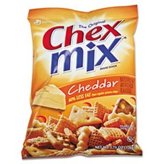 Chex Mix, Cheddar Flavor Trail Mix, 3.75oz Bag, 8/Box