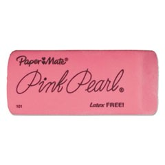 Pink Pearl Eraser, Rectangular, Large, Elastomer, 3/Pack