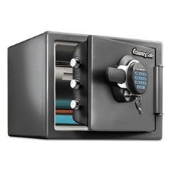 Fire-Safe with Digital Keypad Access, 0.8 cu ft, 16.3w x 19.3d x 13.7h, Black