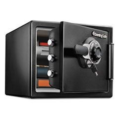 Fire-Safe with Tubular Key and Combination Access, 0.8 cu ft,16.3w x 19.3d x 13.7h, Black