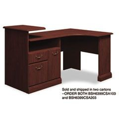 Expandable Corner Desk Solution (B/F/D) Box 2 of 2 Syndicate, Harvest Cherry