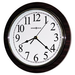 "Rosewood Wall Clock, 11 3/4"", Faux Cherry Wood"