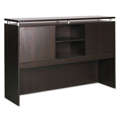 Alera Sedina Series Hutch with Sliding Doors, 72w x 15d x 42.5h, Espresso
