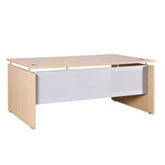 Sedina Series Straight Front Desk Shell, 72w x 36d x 29 1/2h, Maple