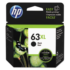 HP 63XL, (F6U64AN) High Yield Black Original Ink Cartridge