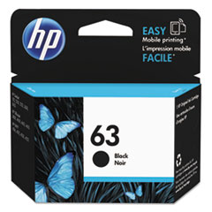 HP 63, (F6U62AN) Black Original Ink Cartridge