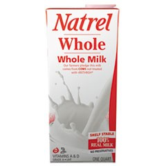 Milk, Whole Milk, 32 oz Resealable Bottle