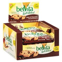 belVita Breakfast Biscuits, Soft Baked Oats & Chocolate, 1.76 oz Pack, 8/Box