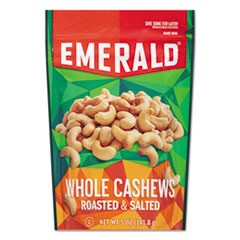 Roasted & Salted Cashew Nuts, 5 oz Pack, 6/Carton