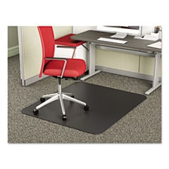 SuperMat Frequent Use Chair Mat for Medium Pile Carpet, 36 x 48, Rectangular, Black