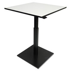 Hospitality Series Height Adjustable Table, 31.5 x 31.5 x 29.5 - 42.5,Gray/Black