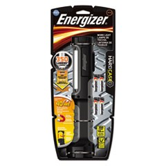 Hard Case Work Flashlight w/4 AA Batteries, Black