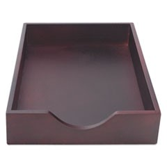 "Hardwood Stackable Desk Trays, 1 Section, Legal Size Files, 10.25"" x 15.25"" x 2.5"", Mahogany"