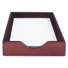"Hardwood Stackable Desk Trays, 1 Section, Letter Size Files, 10.25"" x 12.5"" x 2.5"", Mahogany"