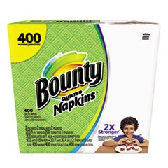 Quilted Napkins, 1-Ply, 12.2 x 12, White, 200/Pack, 400/Carton