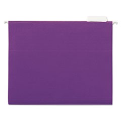 Deluxe Bright Color Hanging File Folders, Letter Size, 1/5-Cut Tab, Violet, 25/Box