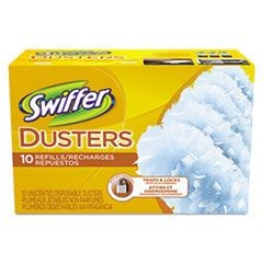 Refill Dusters, Cloth, White, 10/Box