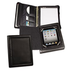 iPad Zipper Binder With Magnetic Flap, Vinyl, Black