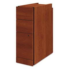 Narrow Box/Box/File Pedestal for 10500/10700 Series Shells, 9.5w x 22.75d x 28h, Cognac
