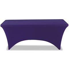 "Stretch-Fabric Table Cover, Polyester/Spandex, 30"" x 72"", Blue"