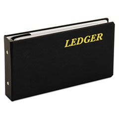 "Ledger Binder, 6 Rings, 1"" Capacity, 5.63 x 10.5, Black"