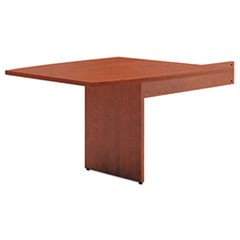 BL Laminate Series Boat-Shape Modular Table End, 48 x 44 x 29 1/2, Medium Cherry