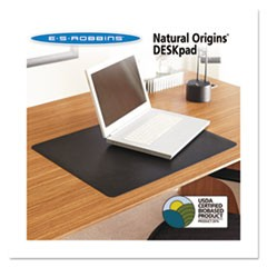 Natural Origins Desk Pad, 38 x 24, Matte, Black