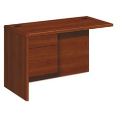 "10700 ""L"" Workstation Return, Left 3/4 Pedestal, 48w x 24d x 29 1/2h, Cognac"