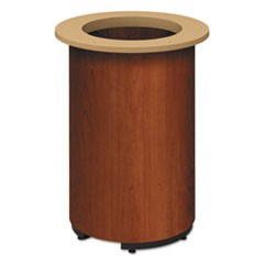"Laminate Cylinder Table Base, 18"" dia. x 28h, Cognac"