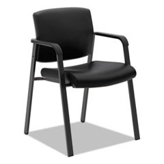 "HVL605 Guest Chair, 23.5"" x 24"" x 35"", Black Seat/Black Back, Black Base"