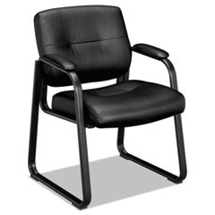 "VL690 Series Guest Chair, 24.75"" x 26"" x 33.5"", Black Seat/Black Back, Black Base"