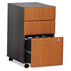 Mobile Box/Box/File Pedestal (Assembled) Series A, Natural Cherry