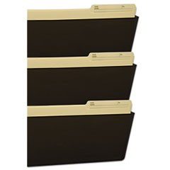 Wall File, Legal 16 x 14, Three Pocket, Smoke