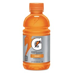 G-Series Perform 02 Thirst Quencher, Orange, 12 oz Bottle, 24/Carton